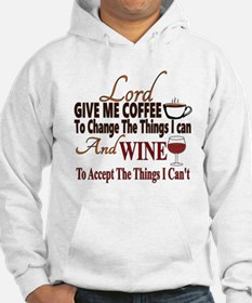 Lord give me coffee and wine Hoodie