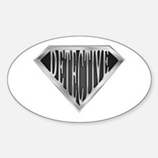 SuperDetective(metal) Oval Decal