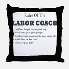 Rules of the Labor Coach Throw Pillow