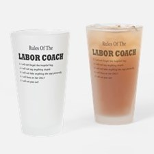 Rules of the Labor Coach Drinking Glass