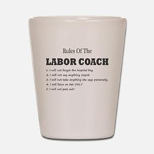 Rules of the Labor Coach Shot Glass