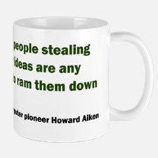 Stealing Ideas Quote, wide Mugs