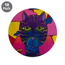 "Hip Cat 3.5"" Button (10 pack)"