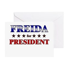 FREIDA for president Greeting Card