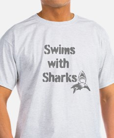Swims with Sharks T-Shirt