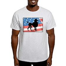 America Poodle T-Shirt