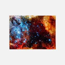 Orange Nebula 5'x7'Area Rug