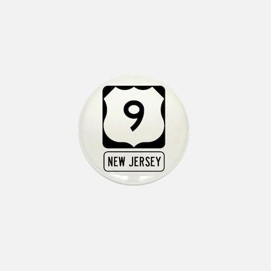 US Route 9 New Jersey Mini Button