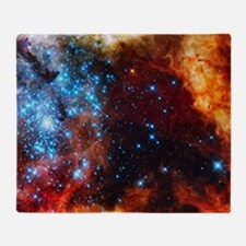 Orange Nebula Throw Blanket