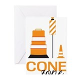Construction worker Greeting Cards (10 Pack)