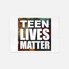 Teen Lives Matter 5'x7'Area Rug