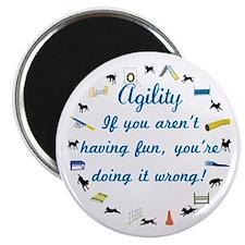 Dog Agility Fun Magnet