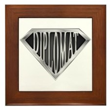 SuperDiplomat(metal) Framed Tile