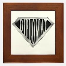 SuperDiplomat(metal) Framed Tile