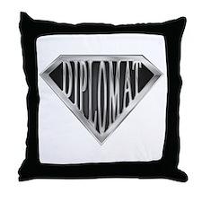 SuperDiplomat(metal) Throw Pillow