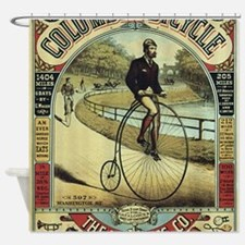 Cute Retro bicycle Shower Curtain