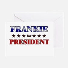 FRANKIE for president Greeting Card
