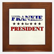 FRANKIE for president Framed Tile