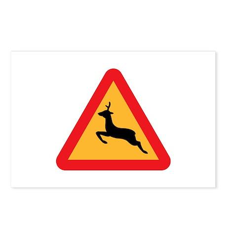 Deer Crossing Postcards (Package of 8)