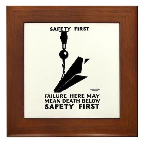 Safety First 1937 Framed Tile