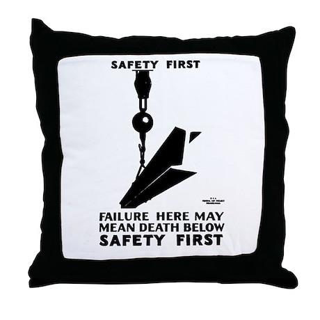 Safety First 1937 Throw Pillow