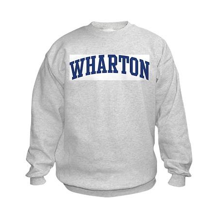 WHARTON design (blue) Kids Sweatshirt