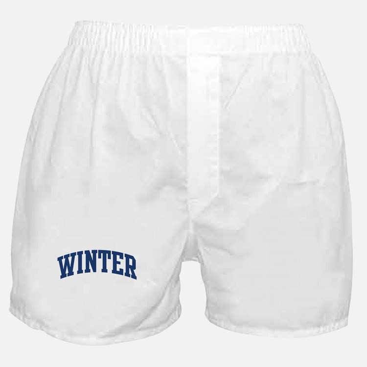 WINTER design (blue) Boxer Shorts