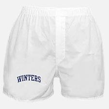 WINTERS design (blue) Boxer Shorts