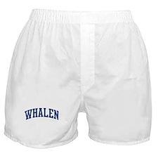 WHALEN design (blue) Boxer Shorts
