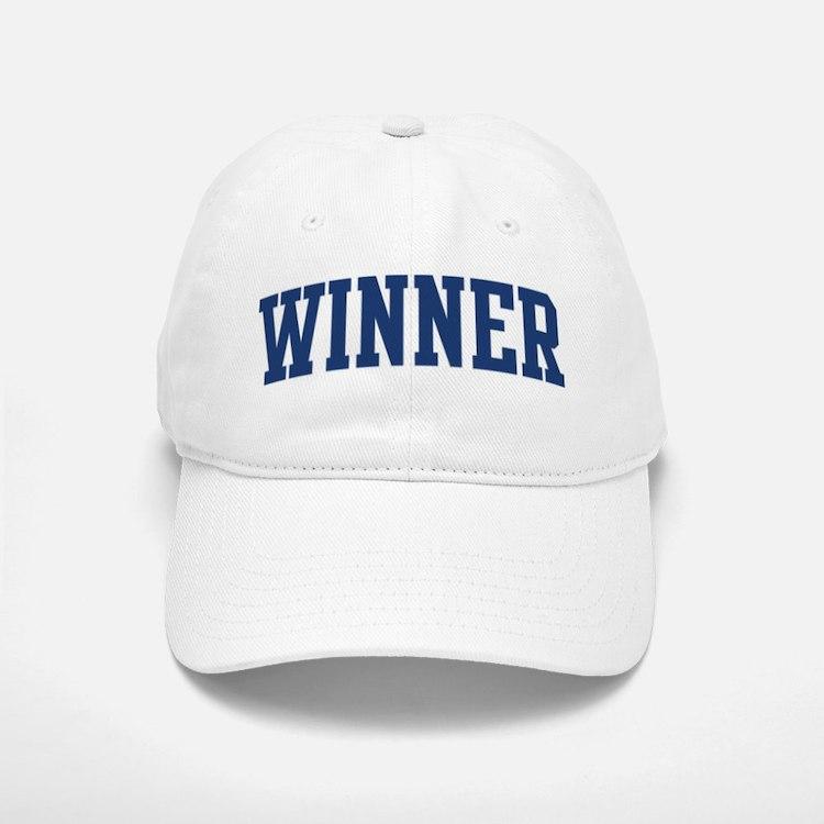 WINNER design (blue) Baseball Baseball Cap