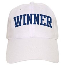 WINNER design (blue) Baseball Cap
