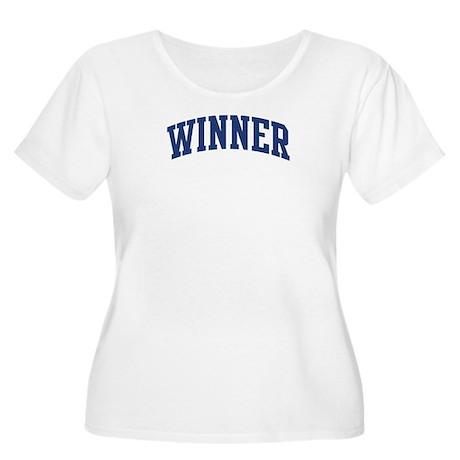 WINNER design (blue) Women's Plus Size Scoop Neck