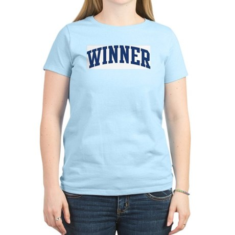 WINNER design (blue) Women's Light T-Shirt