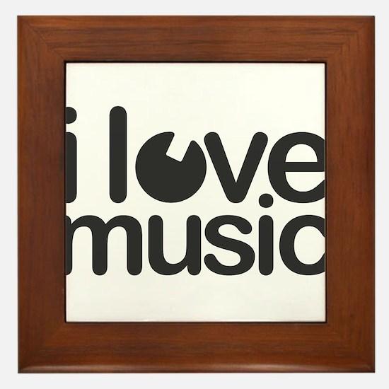 I Just Love Music Framed Tile
