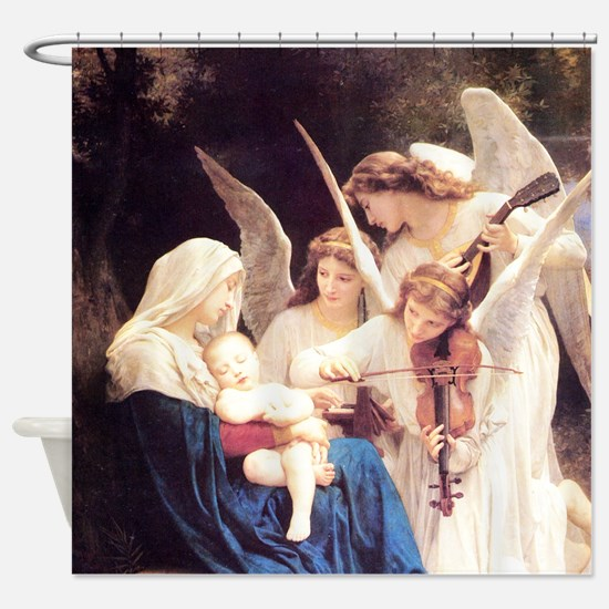 Song Of The Angels Shower Curtain