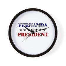 FERNANDA for president Wall Clock