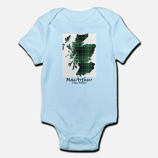 Map - MacArthur Infant Bodysuit