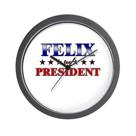 FELIX for president Wall Clock