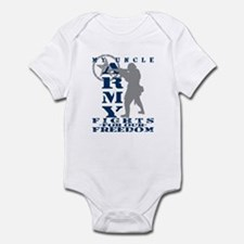 Uncle Fights Freedom - ARMY Infant Bodysuit