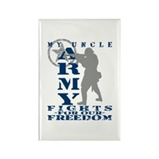 Uncle Fights Freedom - ARMY Rectangle Magnet