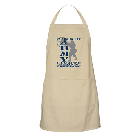 Son-in-Law Fights Freedom - ARMY BBQ Apron