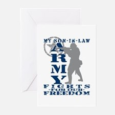 Son-in-Law Fights Freedom - ARMY Greeting Cards (P