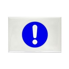 Exclamation Point Rectangle Magnet