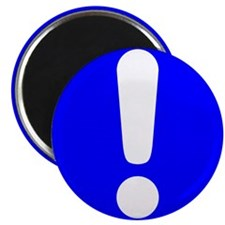 """Exclamation Point 2.25"""" Magnet (10 pack)"""