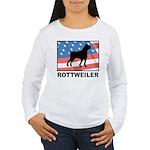 Patriotic Rottweiler Women's Long Sleeve T-Shirt