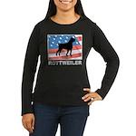 Patriotic Rottweiler Women's Long Sleeve Dark T-Sh