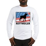 Patriotic Rottweiler Long Sleeve T-Shirt