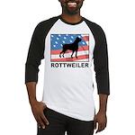 Patriotic Rottweiler Baseball Jersey
