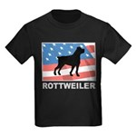 Patriotic Rottweiler Kids Dark T-Shirt