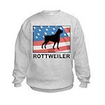 Patriotic Rottweiler Kids Sweatshirt